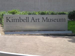 First stop...lunch at the Kimbell!